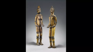 Two sacred Nigerian Igbo statues that fetched 212,500 euros at an auction in Paris, much to the ire of an adviser to the National Commission for Museums and Monuments of Nigeria.