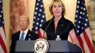U.S. Ambassador to the United Nations Kelly Craft during a news conference at the U.S. State Department in Washington, U.S., September 21, 2020.