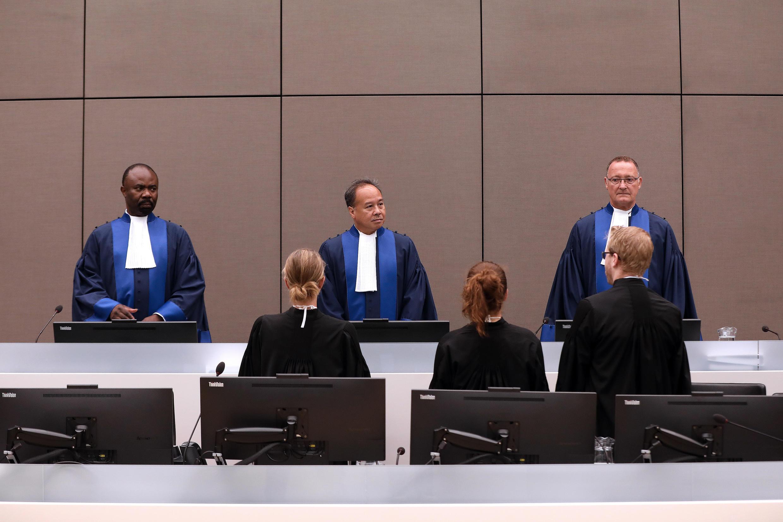 Jueces de la CPI, septiembre de 2016 en La Haya.