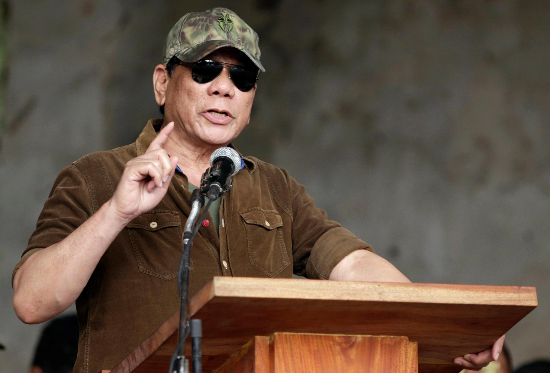 Le président philippin Rodrigo Duterte à Marawi ce mardi 17 octobre 2017.