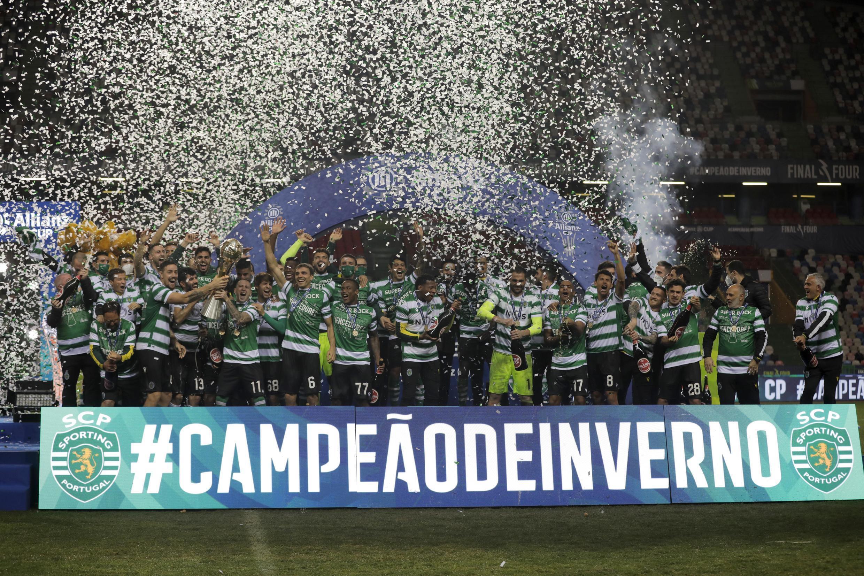 O Sporting CP venceu a Taça da Liga.