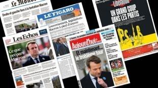 O principal assunto da imprensa francesa nesta terça-feira (9) são as eleições legislativas de junho na França.