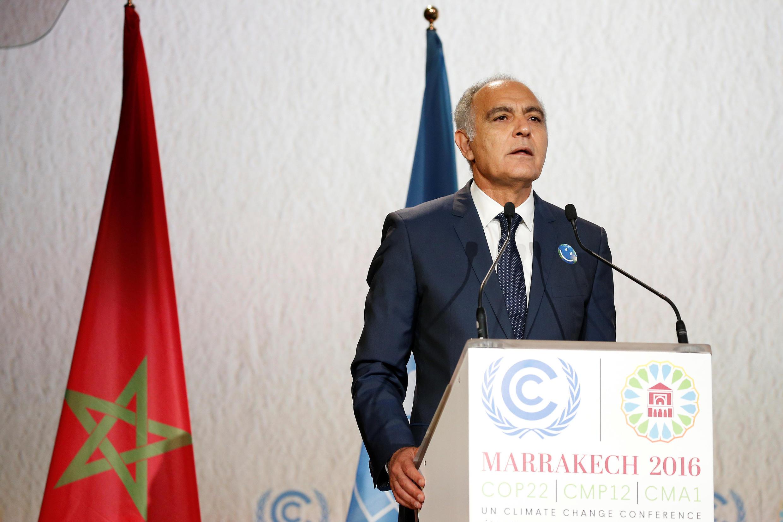 Le président de la COP22, le chef de la diplomatie marocaine Salaheddine Mezouar, le 7 novembre 2016 à Marrakech.