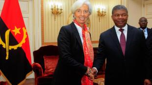 Christine Lagarde, Directora-Geral do FMI, e João Lourenço, Presidente de Angola. Luanda, 20 de Dezembro de 2018.