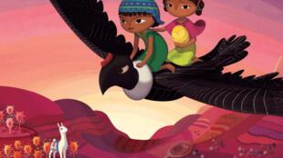 Affiche de Pachamama de Juan Antin. FOLIVARI / 02B FILMS / DOGHOUSE FILMS / KAÏBOU PRODUCTION / BLUE SPIRIT STUDIO / HAUT ET COURT