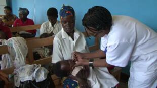 Campagne de vaccination contre la pneumonie au Rwanda.