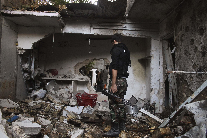 Un combattant de l'Armée syrienne libre, près d'Alep, le 1er septembre 2013.