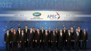 Foto de familia en la cumbre de la APEC, este 9 de septiembre de 2012.