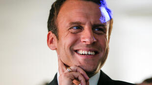 El líder de En Marche Emmanuel Macron el 14 de abril de 2017 en la ciudad de Grenoble.