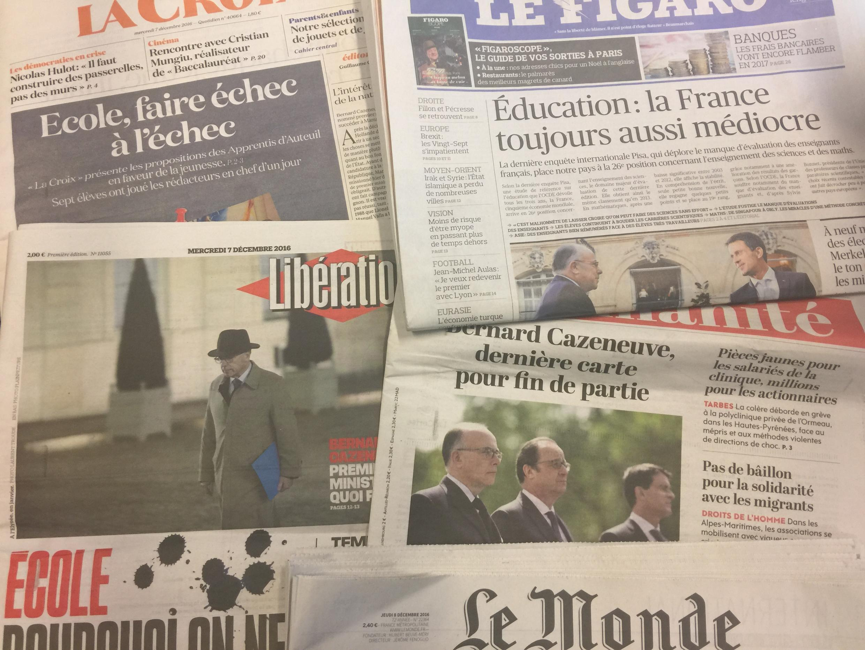 Capas dos diários de 07/12/2016