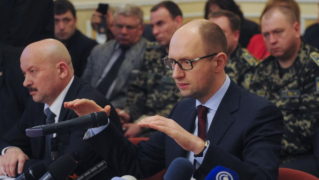 O primeiro-ministro da Ucrânia, Arseni Iatseniuk.
