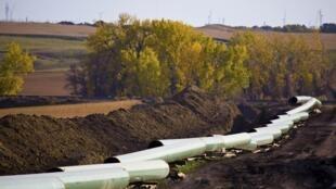 Un oleoducto en construcción en Dakota del Norte, Estados Unidos, en 2012.