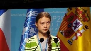 Greta Thunbert na COP 25 em Madrid, 11 Dezembro 2019.