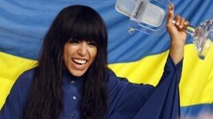 Ca sĩ Loreen của Thụy Điển, người chiến thắng trong cuộc thi Tiếng hát truyền hình châu Âu- Eurovision tại Baku, Azerbaijan tối đêm 26/5/2012.