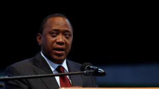 Uhuru Kenyatta, presidente do Quénia.