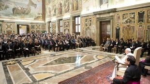 O papa Francisco falou para os participantes da 38ª conferência da FAO nesta quinta-feira, 20 de junho de 2013.
