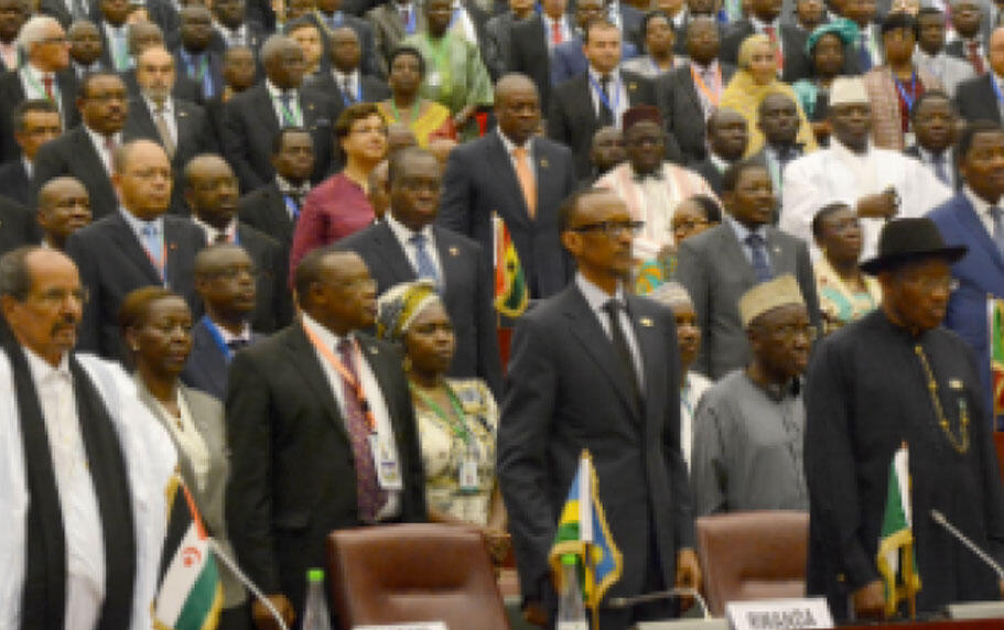 Shugabannin kasashen Afrika a lokacin da suke taronsu a Malabo