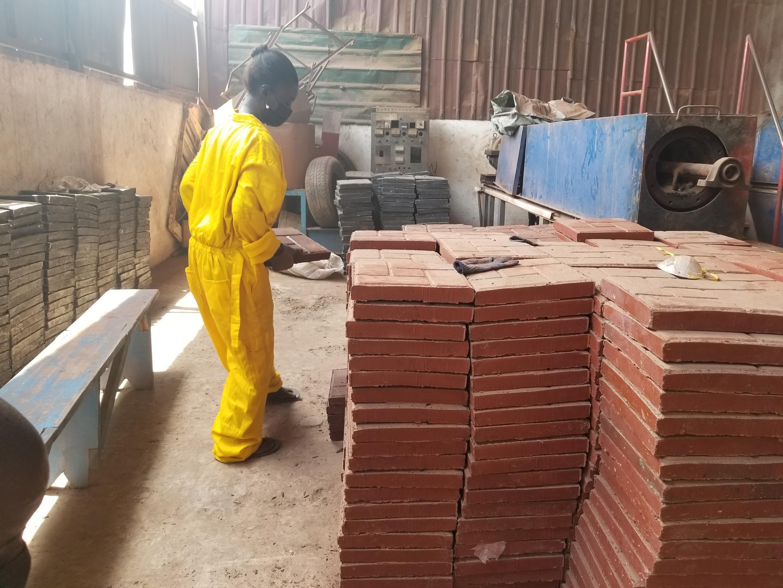 Ghana plastic bricks