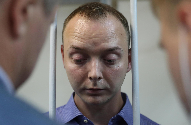 Арестованный по делу о госизмене бывший журналист Иван Сафронов