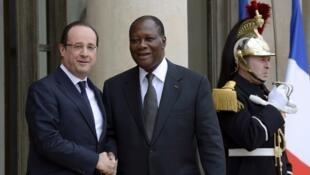 François Hollande a reçu son homologue ivoirien Alassane Ouattara ce jeudi 11 avril à l'Elysée.