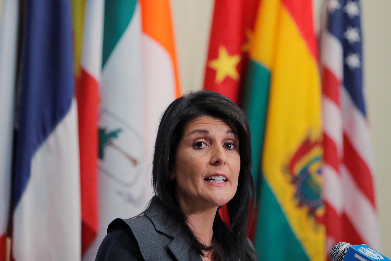 Nikki Haley, embaixadora norte-americana na ONU.