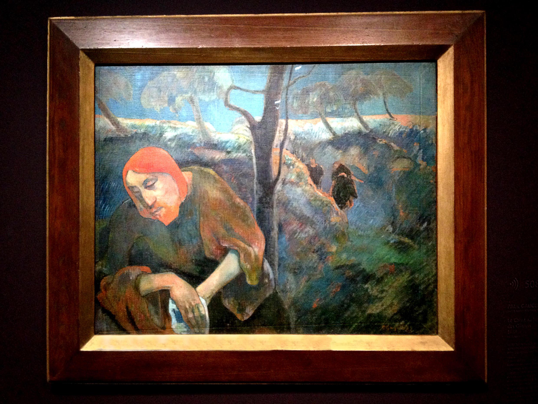 Поль Гоген. Христос в Гефсиманском саду (Моление о чаше). 1889. Галерея Нортон, Палм Бич, США