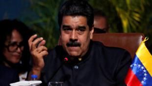 Nicolas Maduro, à Santa Cruz (Bolivie), le 24 novembre 2017.