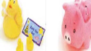大陆出口香港兩款塑化劑超標最嚴重的伴浴玩具。