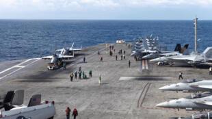 Hàng không mẫu hạm Mỹ USS Ronald Reagan tham gia tập trận chung hải quân Hàn Quốc, ngày 19/10/2017