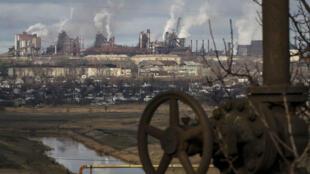 L'usine métallurgique d'Ilyich à Marioupol.