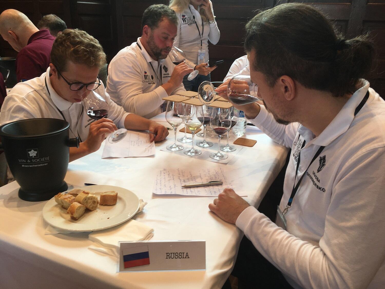Команда России на Всемирном чемпионате дегустации вин вслепую