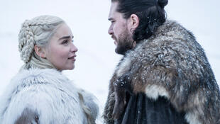 Just good friends? Emilia Clarke and Kit Harington in season 8 of Game of Thrones.