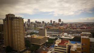 Vue des toits de Johannesburg.