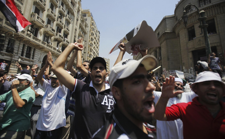 Manifestation de pro-Morsi au Caire, le 5 août 2013.