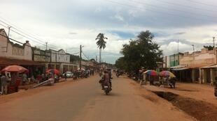 Rue principale de Kalemie, dans la province du Tanganyika, en RDC, le 25 mars 2016.