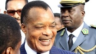 Amendments to the Constitution may give President Sassou -Nguesso (Pictured here in Addis Ababa in January 2014)  a third term following the 2016 presidential election.