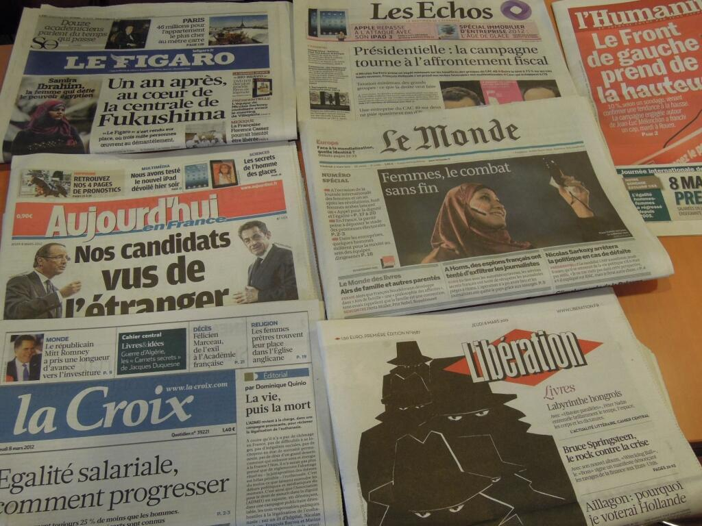 Diários franceses 08/03/2012