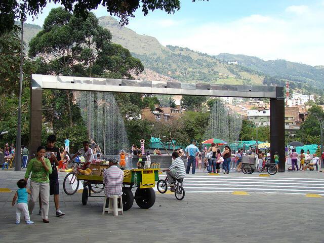Parque Bicentenario en Medellín.