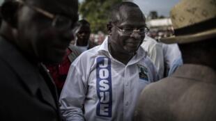 Guy-Brice Parfait Kolelas, opposant au président Sassou et candidat à la présidentielle 2021, à Brazzaville le 17 mars 2016.