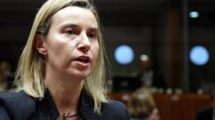 Federica Mogherini, chef de la diplomatie de l'UE, appelle «au respect de la transition et de l'intérêt général». (Photo à Bruxelles, le 29 janvier 2015)