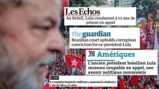 Os jornais europeus analisam a condenação do ex-presidente Lula a 12 anos e um mês de prisão por corrupção passiva e lavagem de dinheiro.
