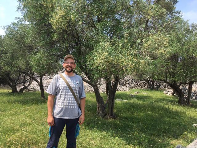 David Mrakovcic, oléiculteur sur l'île de Krk.