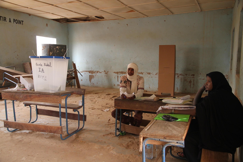 Une salle de classe d'une école à Kidal, au Nord du Mali.