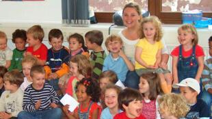 Un jardin d'enfants à Francfort, en Allemagne.