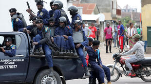 Vikosi vya usalama vya DRC huko Kinshasa, Februari 25, 2018.