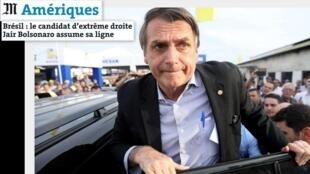 Artigo do jornal Le Monde destaca o candidato Jair Bolsonaro.