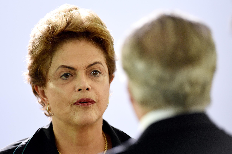 La désormais ex-présidente Dilma Rousseff  et son vice-président Michel Temer en décembre 2015.