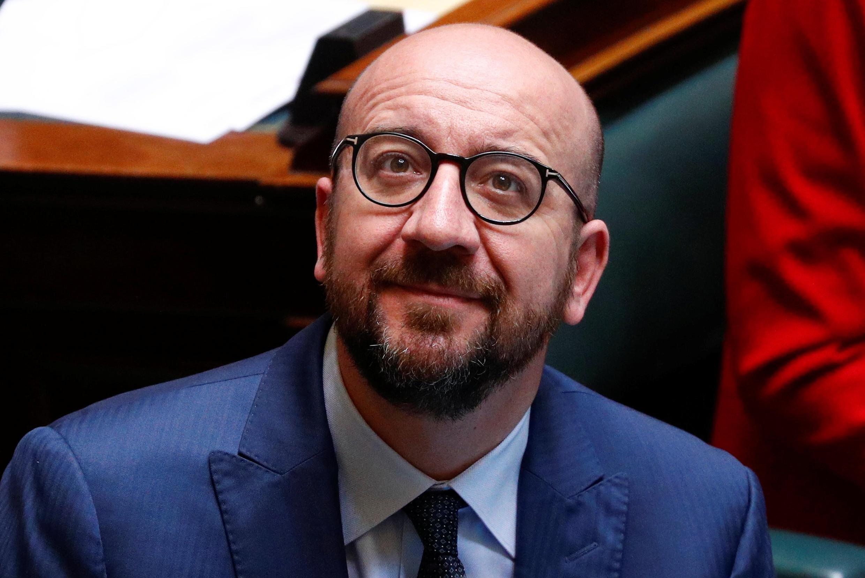 El premier belga Charles Michel, este 4 de abril en el Parlamento en Bruselas.