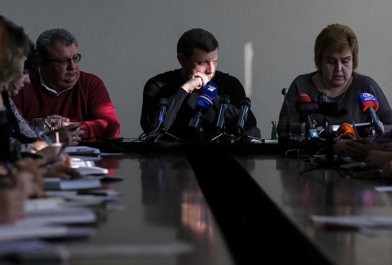 Глава ДНР Александр Захарченко, 9 декабря 2014 г, Донецк