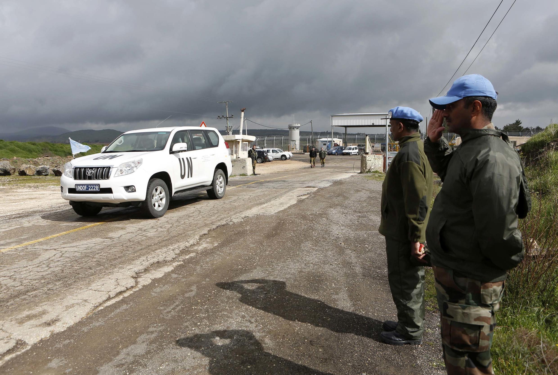 Lính mũ xanh Philippines thuộc lực lượng Liên Hiệp Quốc tại bình nguyên Golan, ngày 05/03/2013.